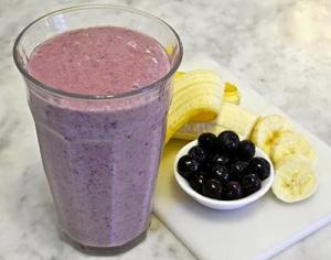 Blue berry banana smoothie